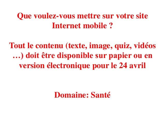 Dessinez votre site Internet mobileDomaine: Santé