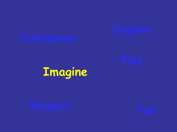 Imagine Fun Explore Respect Play Confidence