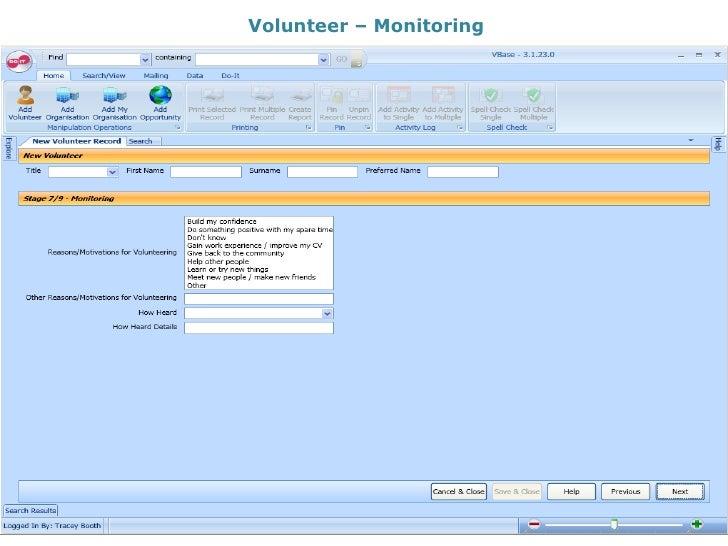 Volunteer – Monitoring