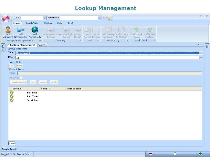 Lookup Management