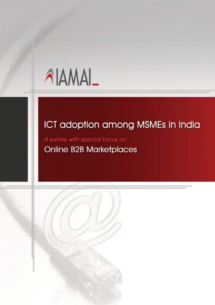 India SME ICT Adoption IAMAI Survey