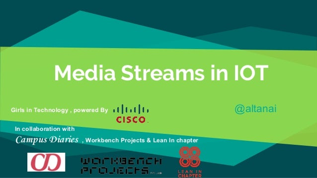Media Streams in IOT Girls in Technology , powered By @altanai In collaboration with Campus Diaries , Workbench Projects &...