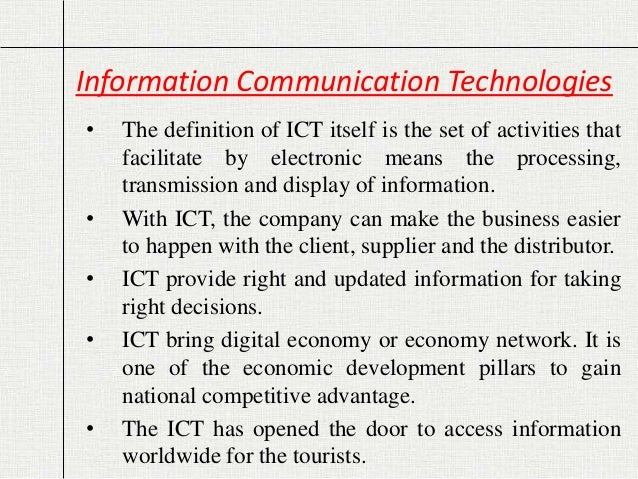 Ict) and tourism