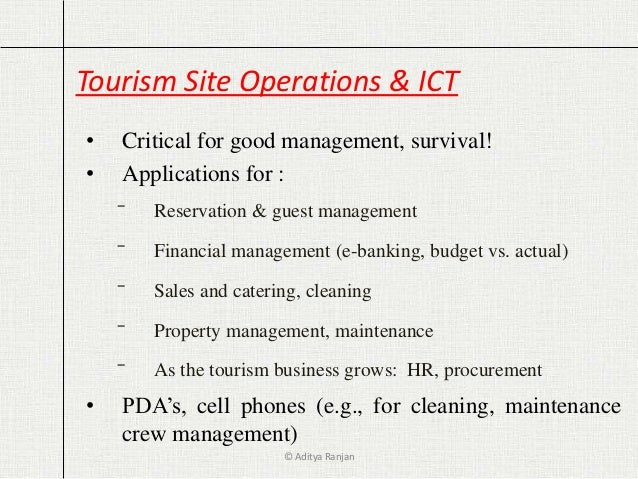 ict destination management It presents an array of ict-based tools/applications for use by destination  managers and discusses the opportunities in destination management for  applying ict.