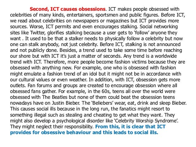 ict is the cause of social ills