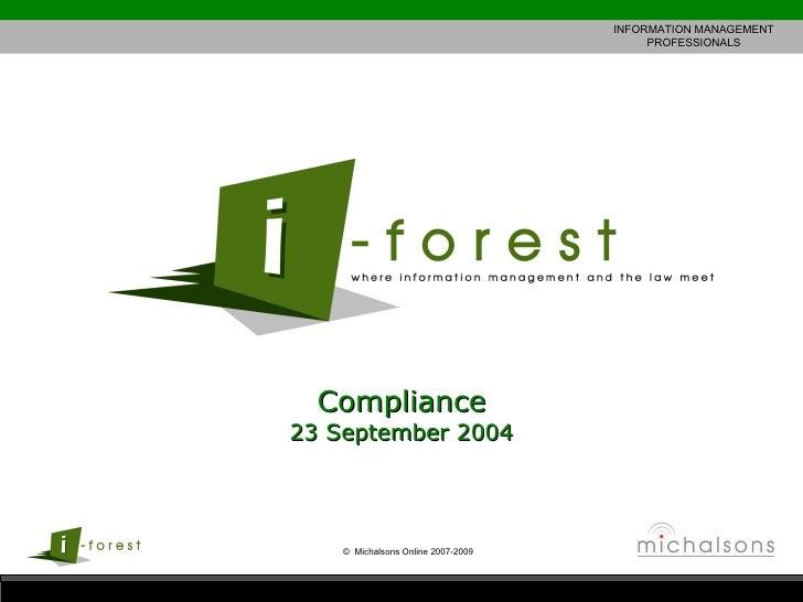 Compliance 23 September 2004