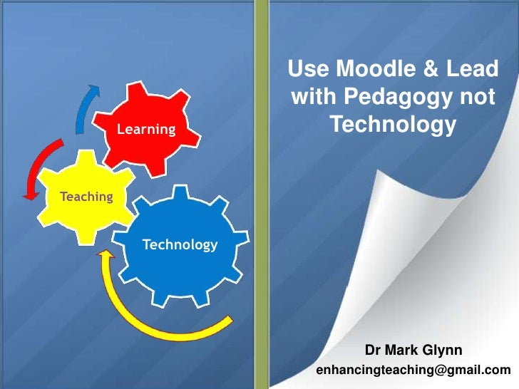 Use Moodle & Lead                           with Pedagogy not           Learning           TechnologyTeaching             ...