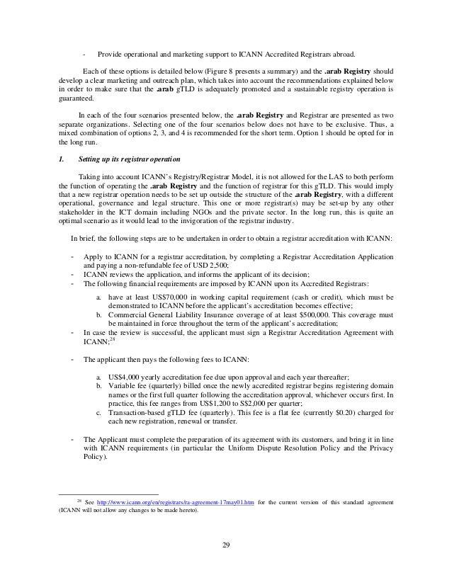 Preliminary Feasibility Study For The Establishment Of The Domain Nam