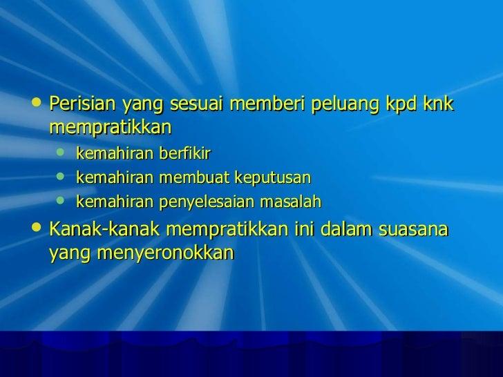 <ul><li>Perisian yang sesuai memberi peluang kpd knk mempratikkan  </li></ul><ul><ul><li>kemahiran berfikir </li></ul></ul...
