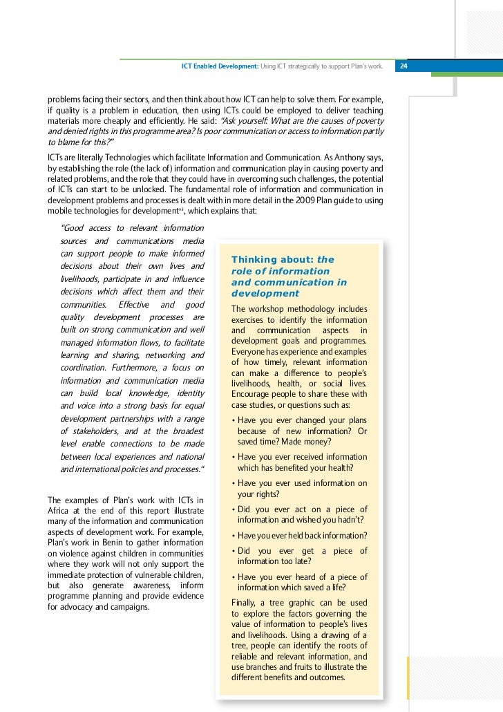 ict development plan Outline for: ict plan the intent of the development process above is to create an environment where annual ict planning is executed aligned with the requirements of.