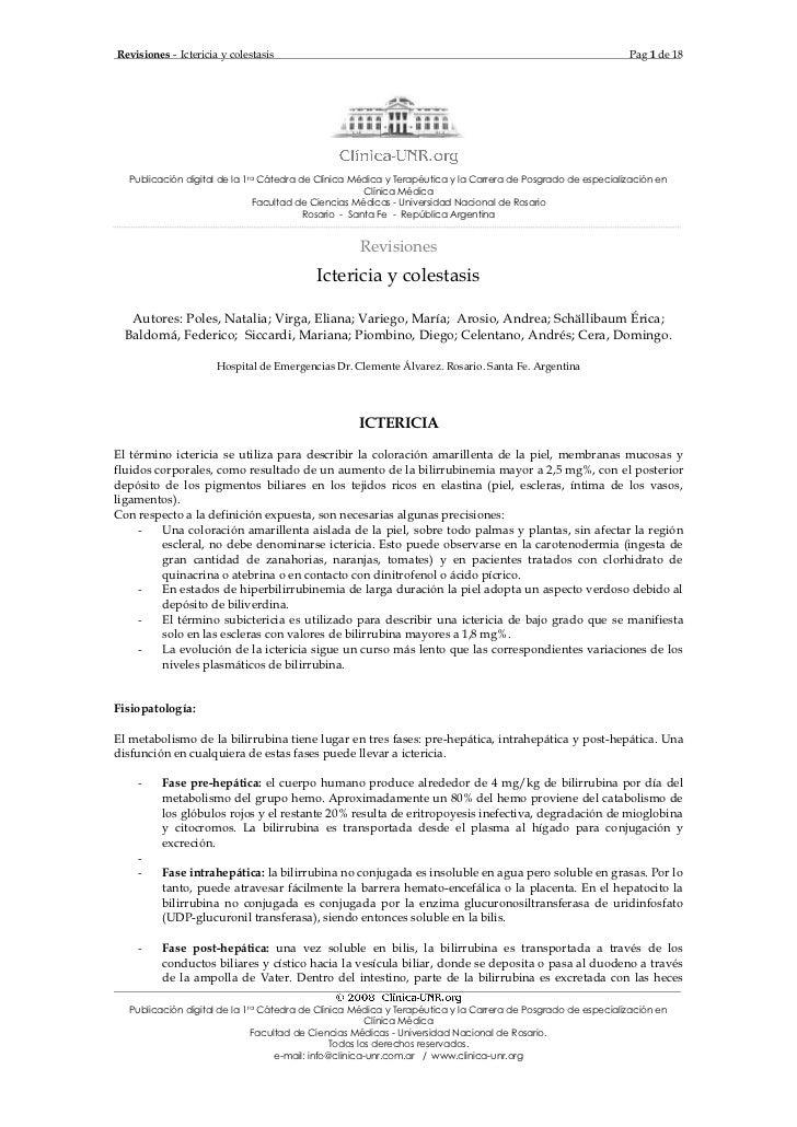 Revisiones - Ictericia y colestasis                                                                          Pag 1 de 18  ...