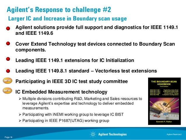 Agilent's Response to challenge #2   Larger IC and Increase in Boundary scan usage          Agilent solutions provide full...