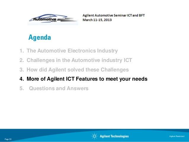 Agenda          1. The Automotive Electronics Industry          2. Challenges in the Automotive industry ICT          3. H...