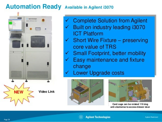Automation Ready            Available in Agilent i3070                              Complete Solution from Agilent       ...