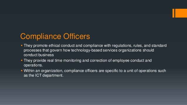 Ict governance - Ethics and compliance officer association ...