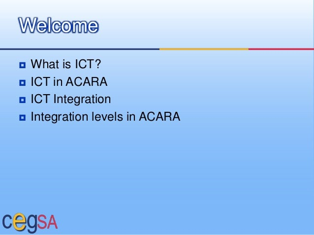 Innovative Classroom Practices Using Ict In England : Ict in acara presentation