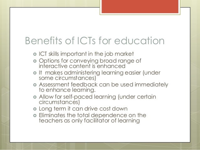 reflection on ict eduction Ministry of education, science and technology republic of kenya education sector report 2005  ict information and communication technology  the ministry of education science and technology is the only ministry in the sector the sector's mandate include among other things, education provision.