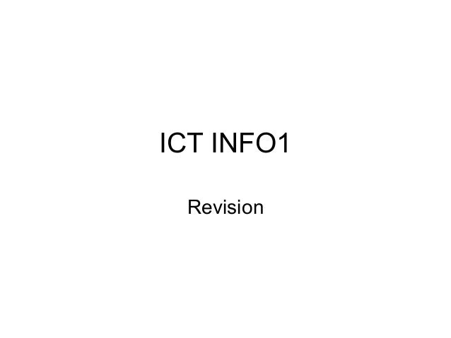 as ict info1 coursework