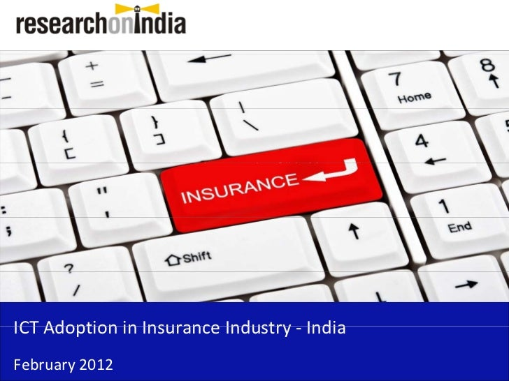 Insert Cover Image using Slide Master View                               Do not distortICT Adoption in Insurance Industry ...