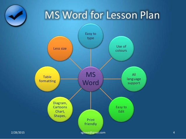 ms word lesson plan