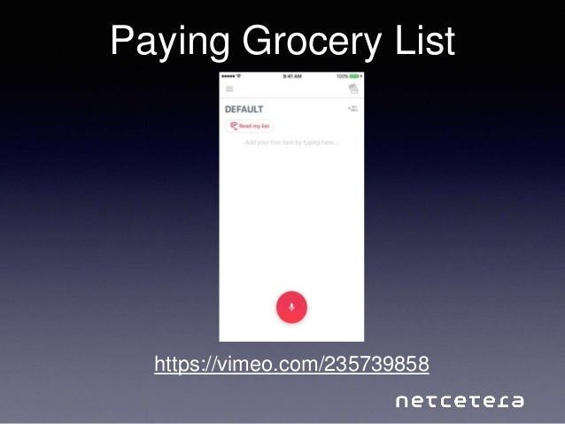 Paying Grocery List https://vimeo.com/235739858