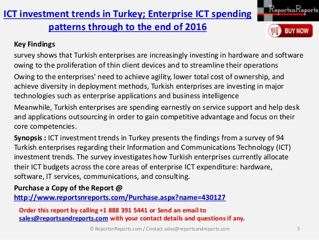Analysis of Turkey Enterprise ICT investment Market Trends and Drivers in 2016 Report Slide 3