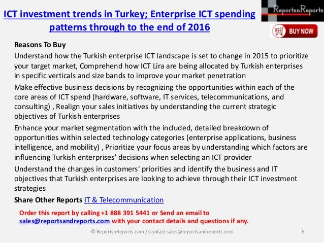 ict investment trends in spain enterprise Ict investment trends in turkey presents the findings from a survey of 105 turkish enterprises regarding their information & communications technology (ict) investment trends the survey investigates how turkish enterprises currently allocate their ict budgets across the core areas of enterprise ict expenditure: hardware, software, it services.