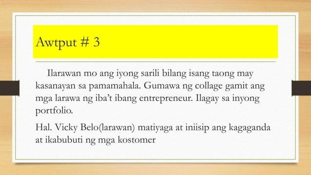 Awtput # 3 Ilarawan mo ang iyong sarili bilang isang taong may kasanayan sa pamamahala. Gumawa ng collage gamit ang mga la...
