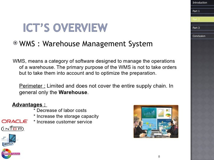 <ul><li>WMS :  Warehouse  Management System </li></ul><ul><li>WMS, means a category of software designed to manage the ope...
