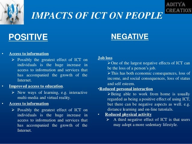 effect of ict on supermarket Measuring the impact of ict investments on economic growth spending countries, which together account for over 90% of the global ict market we.