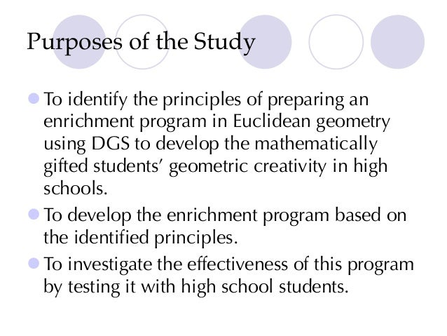 The Effectiveness of an Enrichment Program Using Dynamic Geometry Sof…