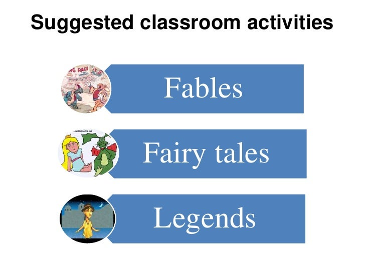 Suggested classroom activities             Fables           Fairy tales            Legends