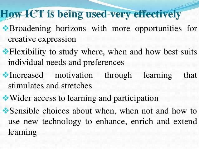 the use of ict essay