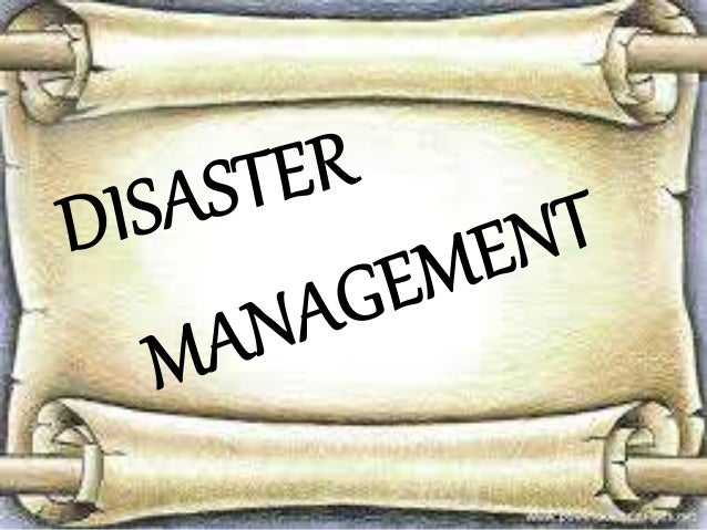 INTRODUCTION TO DISASTER MANAGEMENT  Disasters are as old as human history but  the dramatic increase and the damage  caus...