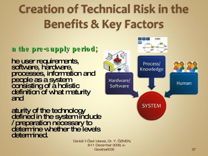 <ul><li>In the pre-supply period; </li></ul><ul><li>The user requirements, software, hardware, processes, information and ...