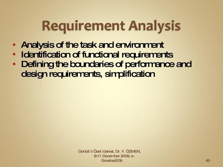 <ul><li>Analysis of the task and environment </li></ul><ul><li>Identification of functional requirements  </li></ul><ul><l...