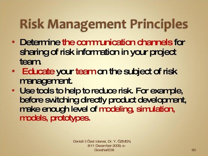 <ul><li>Determine  the communication channels  for  sharing of risk information in your project team. </li></ul><ul><li>Ed...