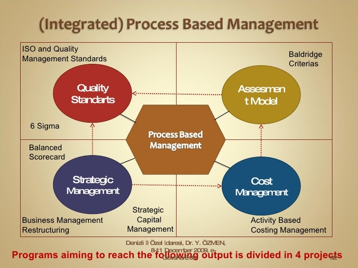 Programs aiming to reach the following output is divided in 4 projects . Quality Standarts Assesment Model Cost  Managemen...