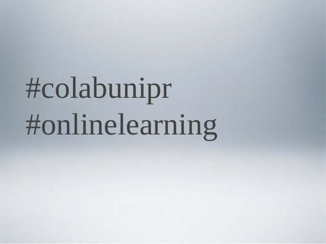 #colabunipr #onlinelearning