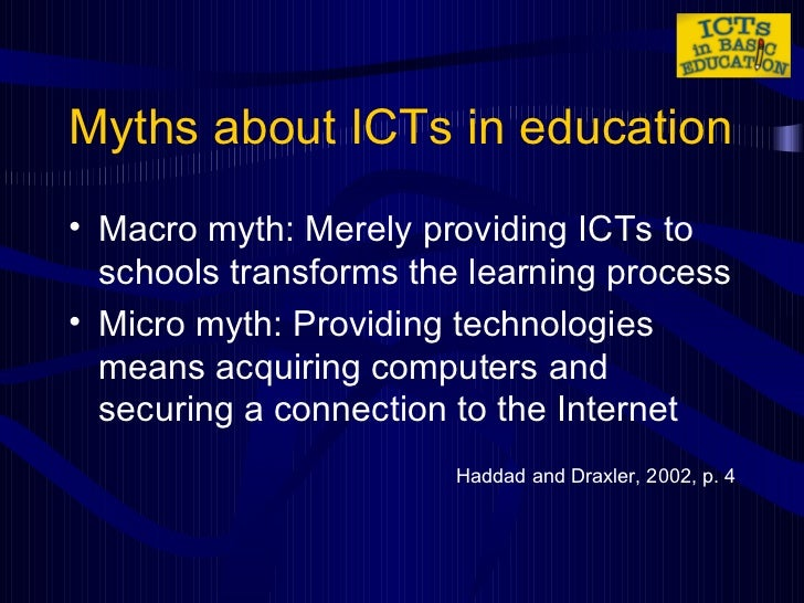 the use of icts Use with children with disabilities and  71 icts to promote equity in  to illustrate how ict in education for people with disabilities can be used.