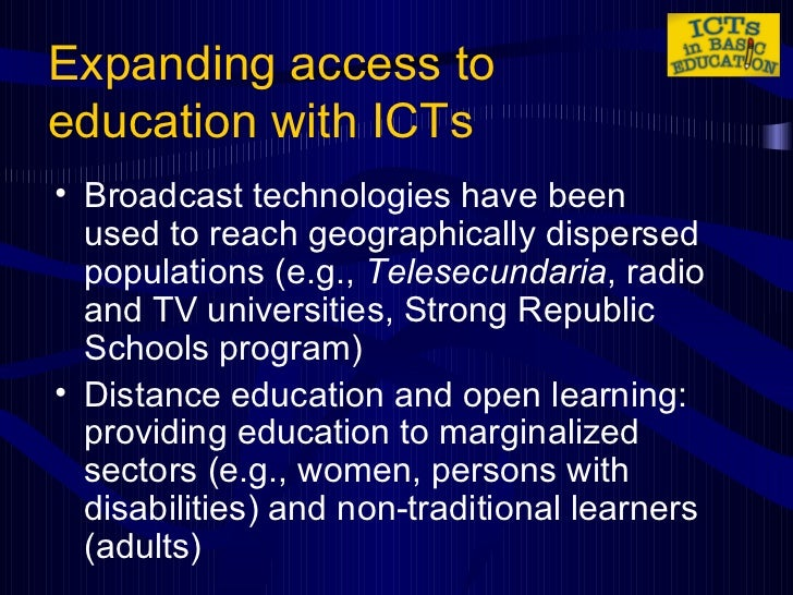 the use of icts Full-text paper (pdf): the use of ict in education: a comparison of traditional pedagogy and emerging pedagogy enabled by ict's.