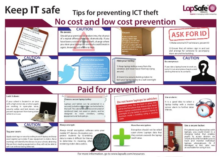 Tips for preventing ICT theft                                                                Be aware:                    ...