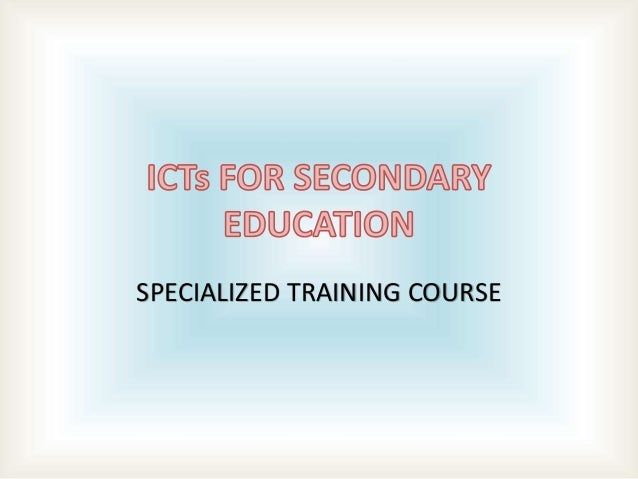 SPECIALIZED TRAINING COURSE