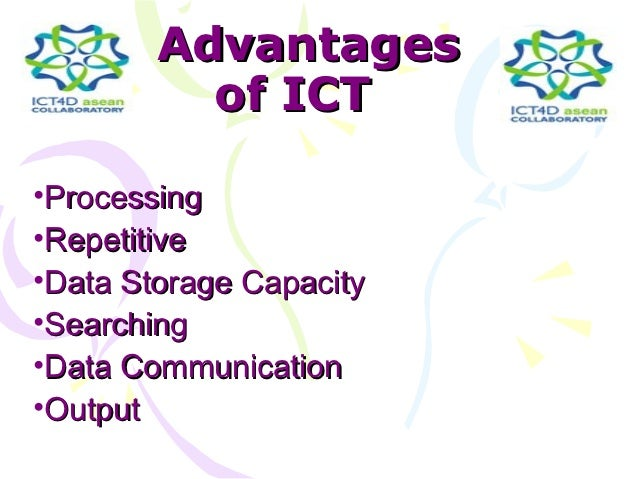 advantages of ict Extracts from this document introduction the disadvantages of ict with all of the advantages that come with computer technology in present day the future, but.