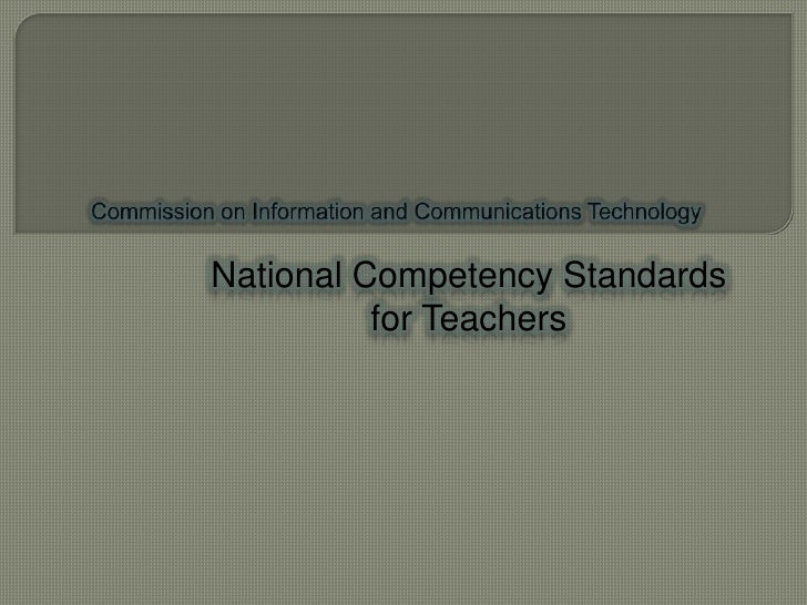 National Competency Standards          for Teachers