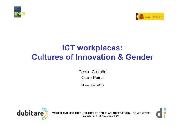 gender and ict Gender and ict is a research group at the  in3 - universitat oberta de catalunya (uoc) av carl friedrich gauss, 5 parc mediterrani de la tecnologia 08860.