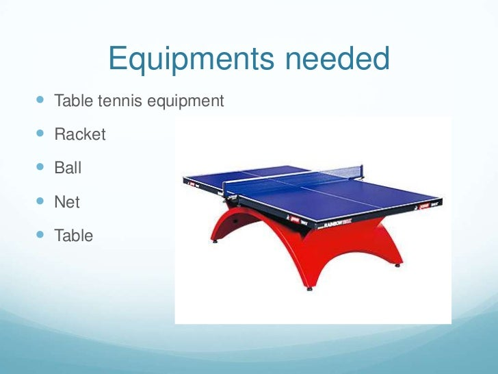 Ict work table tennis - Equipment for table tennis ...