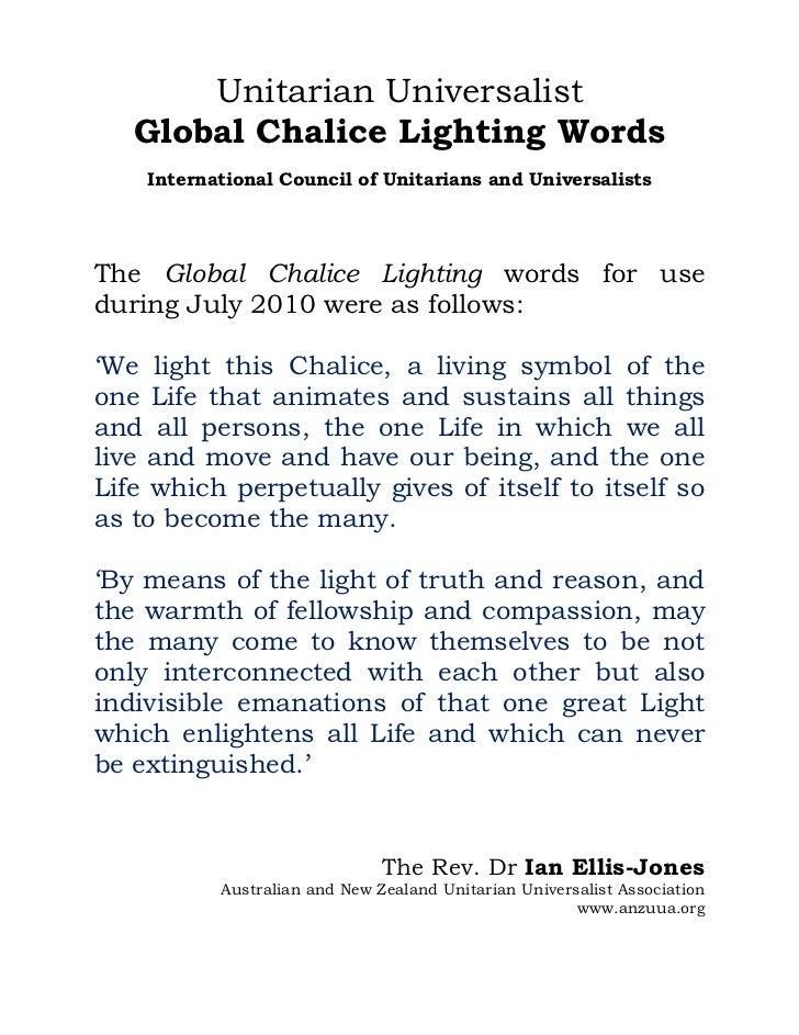 Unitarian Universalist   Global Chalice Lighting Words    International Council of Unitarians and UniversalistsThe Global ...
