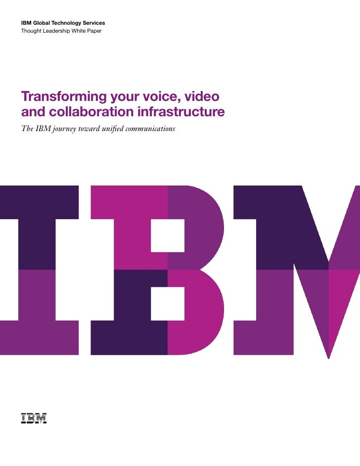 Transforming your voice, video and Collaboration Infrastructure