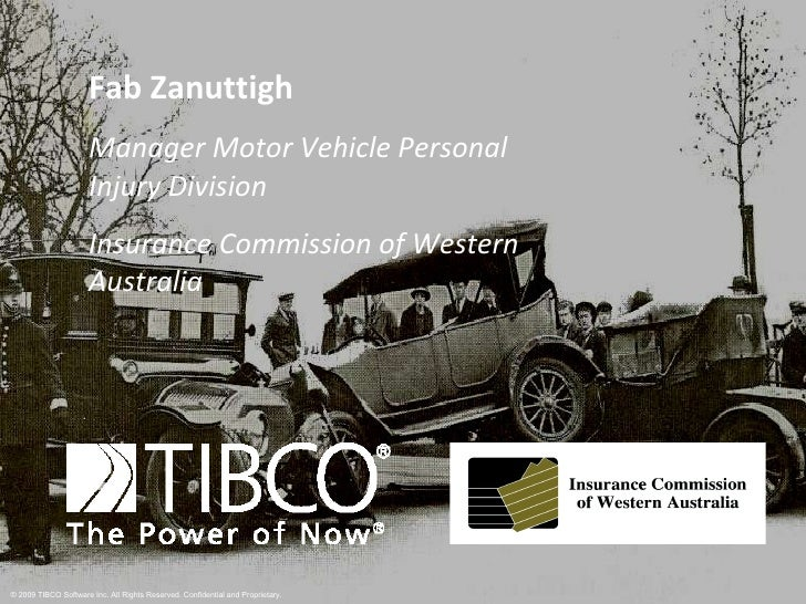 Fab Zanuttigh Manager Motor Vehicle Personal Injury Division Insurance Commission of Western Australia
